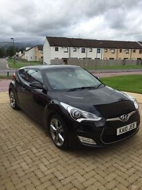 HYUNDAI VELOSTER IN BLACK WITH RED LEATHER INTERIOR 1.6 SPORT 3 DOOR