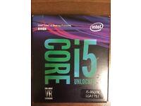 BNIB Sealed Intel Core i5 8600k Processor Coffeelake