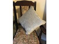 4 x Grey velour cushions - New