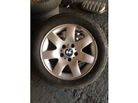 Bmw alloys wheels 16 205/55/16 2 tyres brand new and 2 still leagal