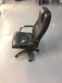 Leather look directors office chair
