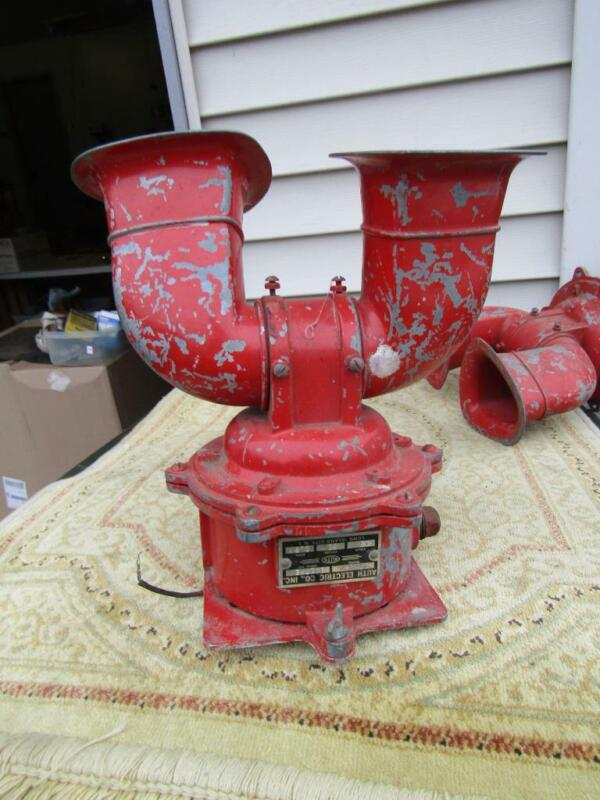 """Vintage Siren / Horn  Daul Horns from  Auth Electric Co. Model 1789-C  12v 9x10"""""""