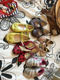 Girls shoes selection