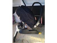 Mamas and papas car seat and isofix base