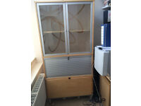 IKEA cabinet,filing cabinet, lockable section and 2 shelves