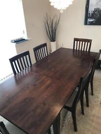 Laura Ashley Garrat Extendable Dining Table & 6 Chairs