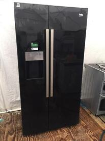 Ex-catalogue BEKO black good looking frost free A-class American style fridge freezer