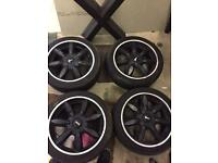 "17"" black mini BMW alloys"