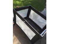 Red Kite Sleeptight Travel Cot (Black) with Travel cot play mat