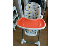 bonito bebe High chair foldable, removable tray, adjustable hight