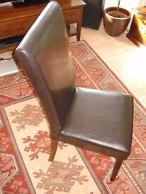 Leatherette Dining Chairs x 6 (or x4 @ £25 each) - Dining table available see separate advert