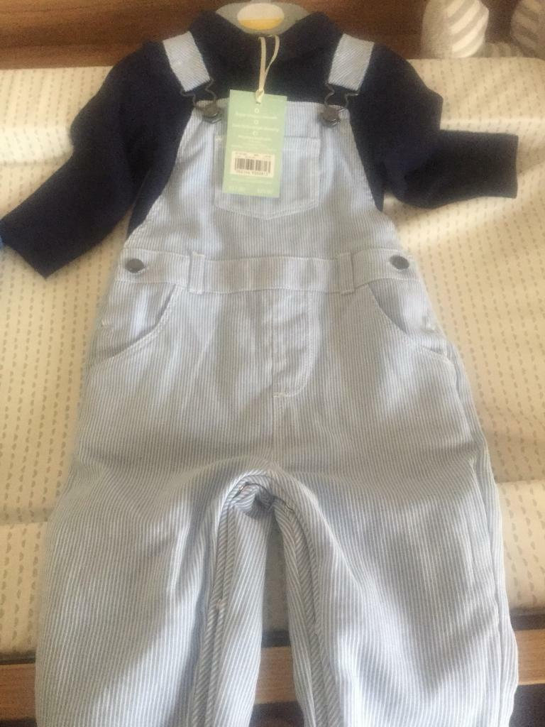 Boy Dungarees outfit 3-6 months
