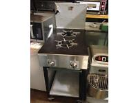 2 burner commercial cooker on wheels