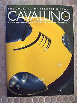 FERRARI ORIGINAL CAVALLINO #126 MAGAZINE BROCHURE 2001-2002