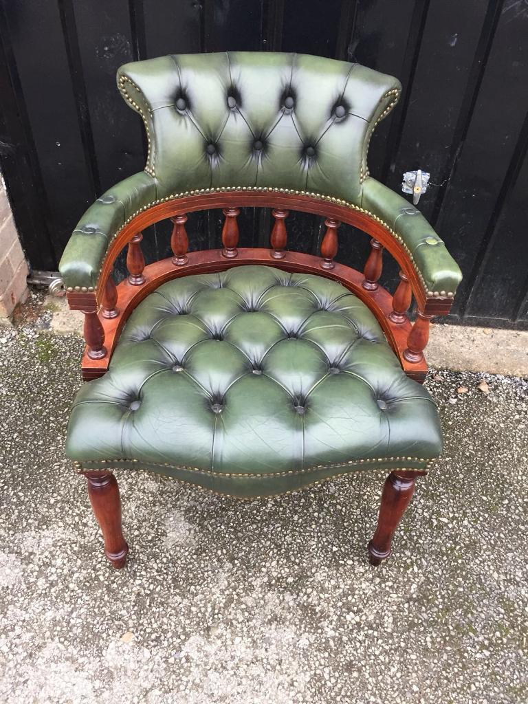 Chesterfield captains chair (delivery available)