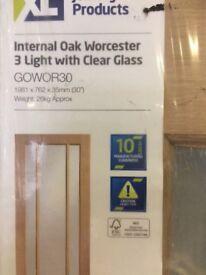 Internal Oak Worcester Door with clear glass