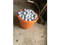200+ used golf balls for practice