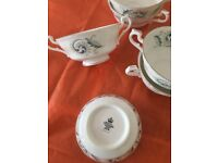 Vintage Fine Royal Standars Fine Bone China blue Garland Soup bowls 5 and 1 bowl