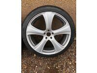 "Kahn design 22"" wheels for Range Rover L322 / BMW X5 with good Toyo tyres."