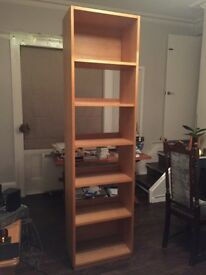 Habitat oak bookcase