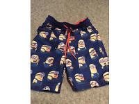 Minions swimming shorts size 4
