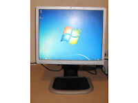 HP 19 inch LCD monitor can be used vertical or horizontal DVI and VGA inputs USB inputs. can deliver