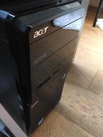 Acer aspire, windows 10 64bit, quad core. wifi desktop