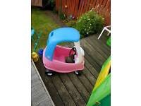 Little tikes pink an blue car