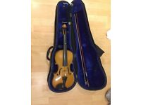 old stentor violin full size with case