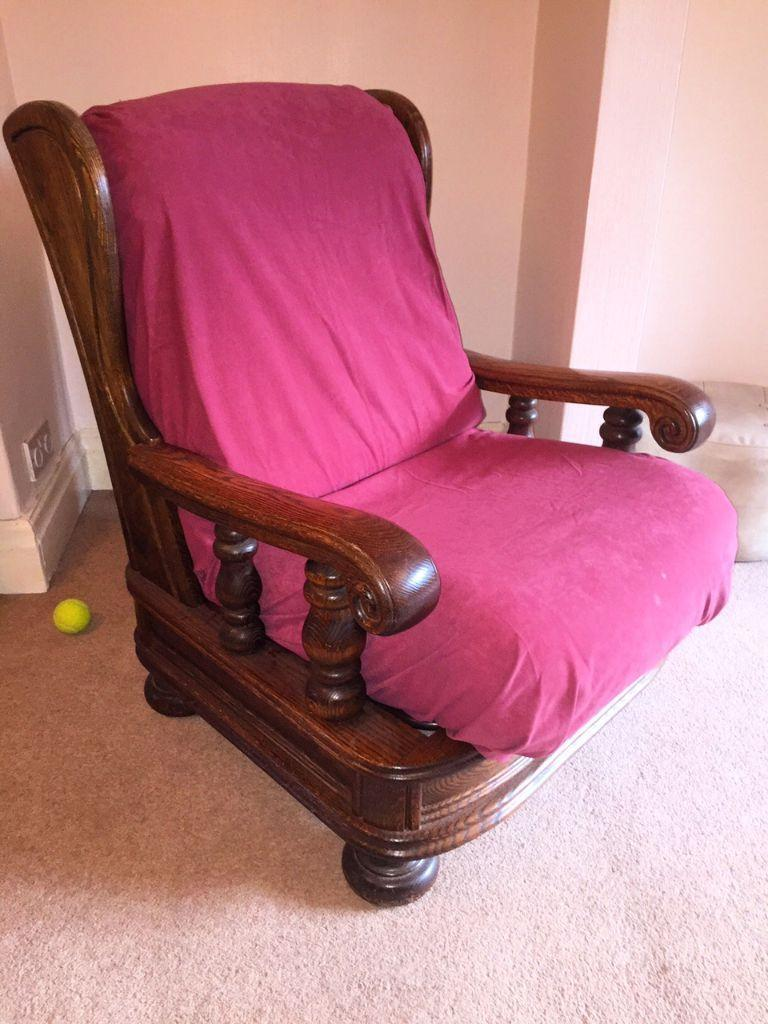 Solid oak wooden frame 3 piece suite sofa set very for Furniture 3 piece suites
