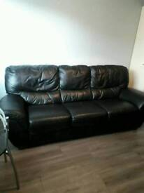 3+1 leather couch