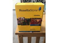 Rosetta Stone Spanish box set 1-5