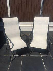 Cast iron (rocking) chairs black and cream