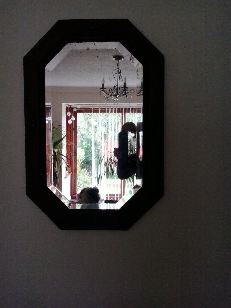 Antique wooden framed mirror. Looks to be from around 1920 - 30 era.