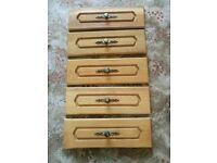 8 oak drawer fronts