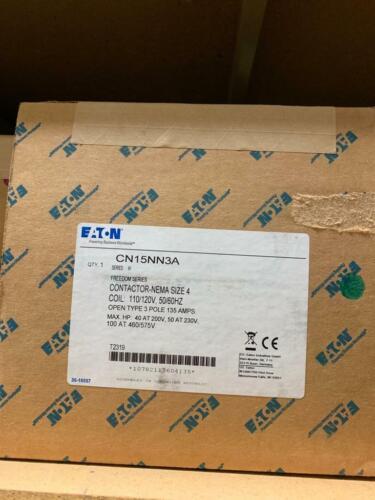 Eaton Cutler Hammer CN15NN3A contactor size 4 name 135amps 3 poles open NEW