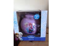 Girls Disney FROZEN MONEY BOX unwanted gift Brand new in unopened Box Will Post