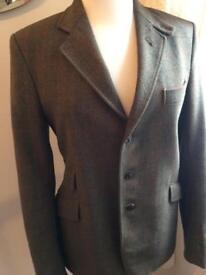 Wool mix riding jacket 38