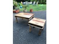 2x coffee table set