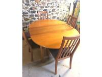 G Plan Table & 4 Chairs