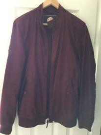 Men's burgundy Harrington jacket from Pretty Green. Size small and in good condition.