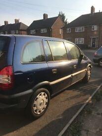 7 seater Vauxhall Zafira 03 ,1.6