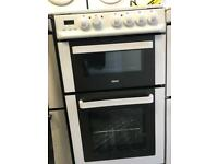 Zanussi ceramic cooker 50cm two door separate grill and oven neat and clean for sale