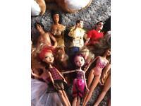 Bundle of barbies and Disney dolls
