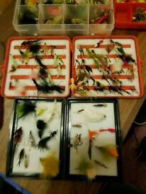 Selection of fly fishing flys