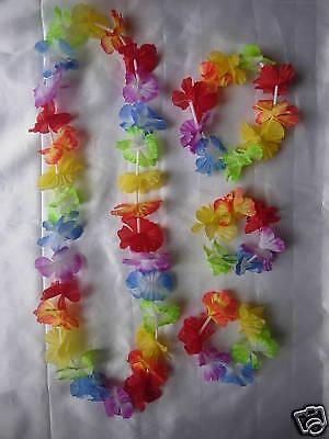 4 Teile Girlande Hawaii Blume Lei, Stirnband, Söckchen - Tropische Kostüme
