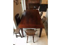 Gorgeous antique solid oak dining table