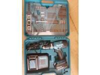 Makita Cordless Combi Drill with 74 piece set kit