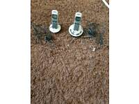 Bt twin cordless phones with answer phone