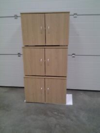 New Bargain. Oak colour 2 door Wall cupboards / units. Sold whole. Sold seperately